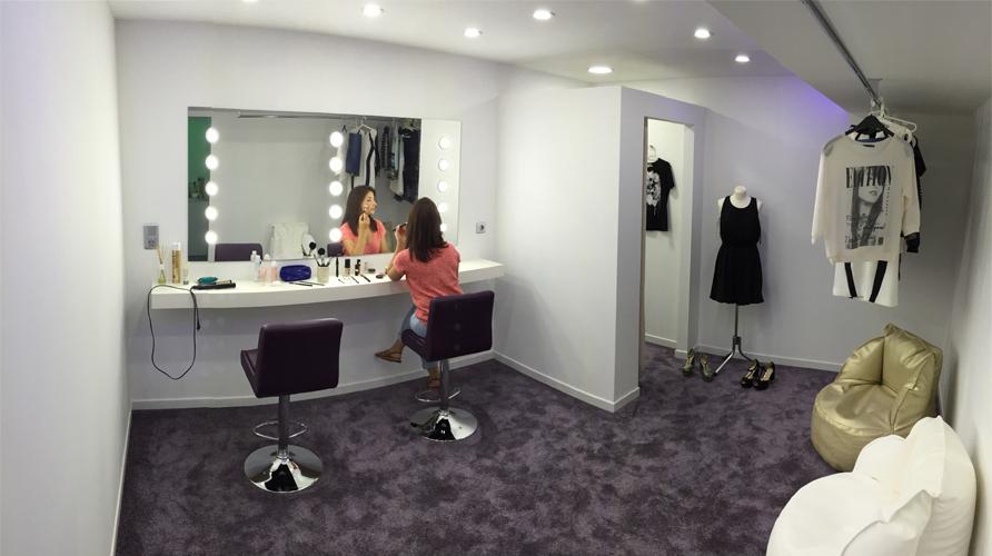 Sala de maquilhagem